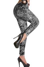 Jual Toprank Denim Wanita Seksi Kelihatan Melempar Undi Untuk Imitasi Jean Kurus Legging Jeggings Abu Abu Termurah