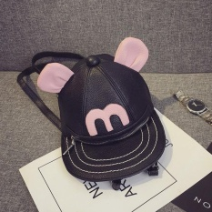 Situs Review Mochila Berbahan Unisex Pu Wanita Korea Sekolah Nylon Polyester Gaya Kulit Backpack Bag Canvas Mini Casual Travel Shoulder Kembali Zip Backpack Intl