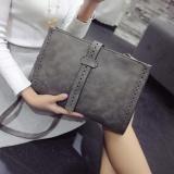 Berapa Harga Mochila Berbahan Baru Korea Fashion Clutch Pu Kulit Besar Kemampuan Handbag Portable Envelope Wristlet Shoulder Bag Grey Intl Di Tiongkok
