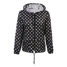 Topsellers365 Terbaik untuk Meaneor Wanita  'S Ringan Anti Udara-luar Room Hoodie Raincoat Bersepeda Lari Olahraga Jaket (hitam) -Internasional