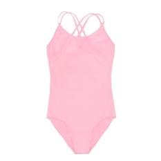 Topsellers365 Perempuan Ganda Tali Ramping Polos Kamisol Jumpsuit Romper Keseluruhan untuk Olahraga Balet Senam (Merah Muda)-Internasional