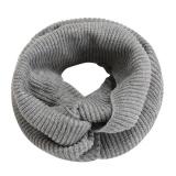 Topsellers365 Bergaya Untuk Finejo Unisex Musim Dingin Hangat Solid Knit Crochet Scarf Selendang Kerah Leher Bungkus Warmer Abu Abu Intl Diskon Indonesia