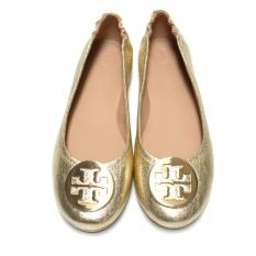 Tory Burch Minnie Travel Flat (Spark Gold)