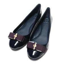 Tory Burch Trudy Flat Shoes (Patent navy)