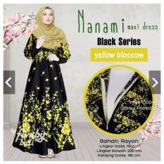 Totally Great Shop Gamis Syari Busui Bumil  - Gamis Pesta Jumbo - Big Size - M to XL - bahan Adem - Maxy Maxi Dress - Batik Long Dress - Baju Kondangan Muslimah Jumbo