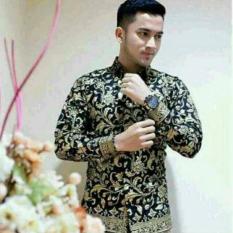 Totally Great Shop - Kado Ultah - Kemeja Eksklusif - Batik Pria Lengan Panjang - Seragam Motif Bunga Pr4da