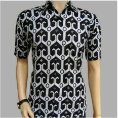 Totally Great Shop Kemeja Hem Pria Batik Batako Lengan Pendek