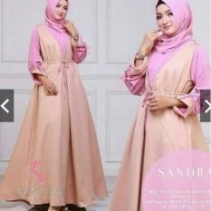 TotallyGreatShop Fashion Busana Muslimah - Gamis Pesta - Kondangan Hijaber Remaja - Wisuda - Gaun Party Maxi Dress ihsandra
