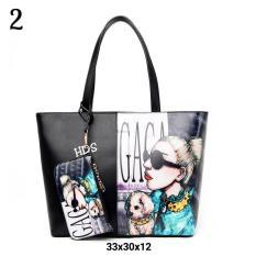 Tote Bag Korean Style Printing Lady Gaga / Tas Bahu Wanita Korean Style (Multicolor)