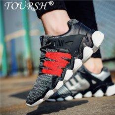 TOURSH Pria Kasual Sepatu Pria Sepatu Sneakers Berlari Sepatu Olahraga Sepatu Basket Sepatu-Intl
