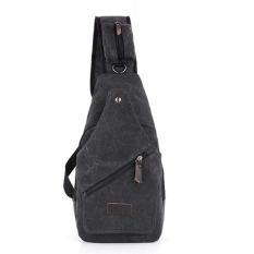 TP 2015 Trend Casual Men's Chest Pack Pria Sport Canvas Tas Kecil Bagmultifunction Outdoor Kecil Satchel-Intl
