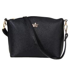 Beli Tp Mini Women Shell Shaped Cross Pattern Imperial Crown Messenger Bags Black Intl Pakai Kartu Kredit