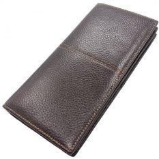 TP Jual Mens Soft Real Kulit Sapi Asli Bifold ClutchwalletsPurses Coin Pouch ID Kartu Kredit Pemegang Paket Dollar-Intl