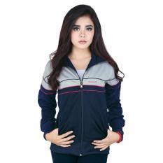 Track Jaket Sweater Wanita Raindoz RYI 090 Biru Kombinasi Diadora