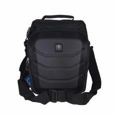 Tracker Tas Selempang 230327 10 Inchi Embos Batok Waterproof Black Original