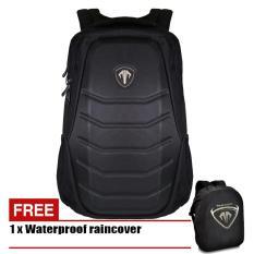 Tas Ransel Tracker Predator Batok Frontside Backside 88932 Original - Black + Raincover