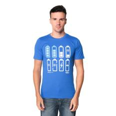 Toko Trafix Kaos Distro Pria T Shirt Tumblr Tee Cowok Battery Biru Online Terpercaya