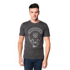 Miliki Segera Trafix Kaos Distro Pria T Shirt Tumblr Tee Cowok Headset Abu