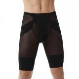 Harga Trainer Pria Binaraga Shorts Kompresi Pelangsing Body Shaper Underwear Celana Ketat Slim Fit Boxer Pants Hitam Intl Terbaik