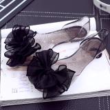 Harga Transparan Besar Bunga Sandal Sepatu Jelly Hitam Kupu Kupu Termurah