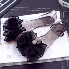 Toko Transparan Besar Bunga Sandal Sepatu Jelly Hitam Kupu Kupu Lengkap Tiongkok