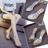 Review Transparan Kristal Perempuan Tahan Air Tarik Sandal Sandal Dan Sandal Perak Perak Sepatu Wanita Sandal Wanita Tiongkok