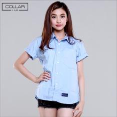 Promo Transparent British Oxford Shirt Light Blue Murah