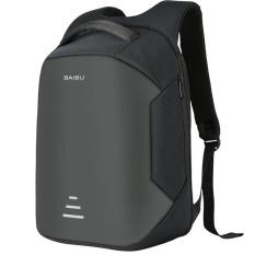 Perjalanan Bisnis Laptop Backpack Anti Pencurian Backpack dengan USB Pengisian Pria Sekolah Notebook Bag Oxford Waterproof Backpack-Intl