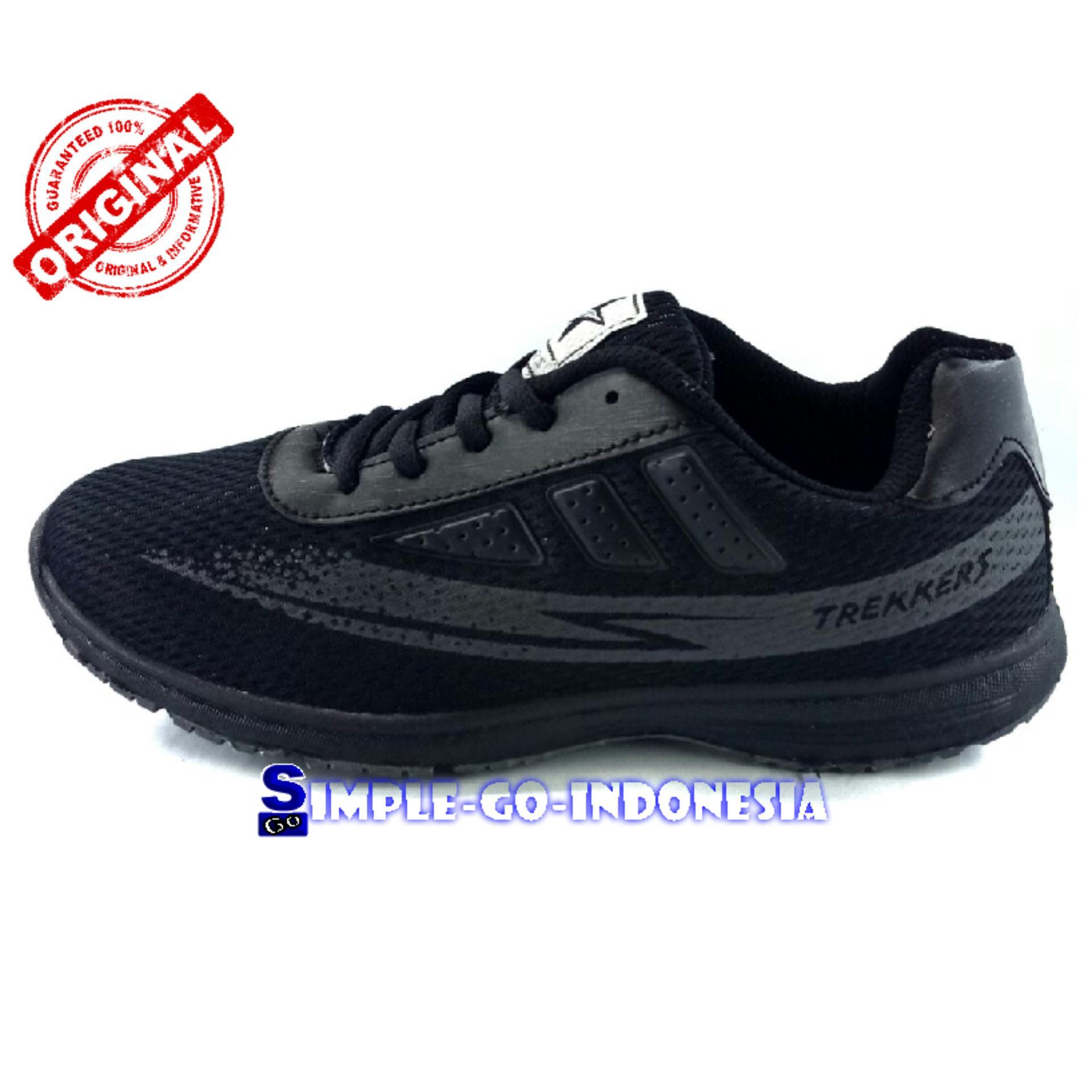Trekkers sepatu sport wanita bolt hitam abu 37-40
