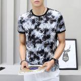Harga T Shirt Sutra Es T Shirt Tren Sutra Es Laki Laki Putih Hitam Di Tiongkok