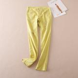 Jual Wb506 Kuning Indah Musim Gugur Celana Jeans Sobek Kuning Murah