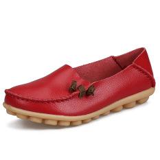 Harga Tren Kulit Musim Gugur Baru Sepatu Merah Tua Other Baru