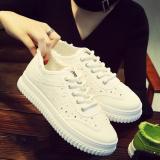Promo Tren Perempuan Datar Renda Model Wanita Sepatu Kain Sepatu Kanvas Putih Tiongkok