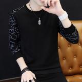 Tambah Beludru Pria Lengan Panjang Leher Bulat T Shirt Lebih Tebal Kaos Sweater T31 Hitam One Piece Baju Atasan Kaos Pria Kemeja Pria Terbaru