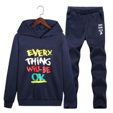 Harga Tren Set Mahasiswa Lindung Nilai Sweater Hoodie Biru Tua Original