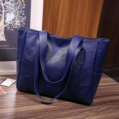 Spesifikasi Korea Fashion Style Baru Tas Selempang Tas Biru Tua Warna Untuk Mengirim Tas Tangan Terbaik