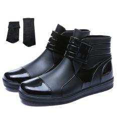 Rp 239.600. Model baru sepatu boots hujan pria Tren Sepatu anti ...