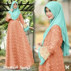Gamis pesta - Baju gamis - Gamis wanita - Baju muslim wanita terbaru - Maxi bahan rubiah plus bergo