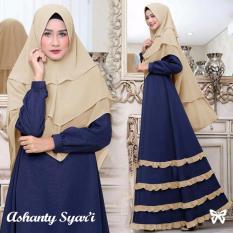 Gamis pesta - Baju gamis - Gamis wanita - Baju muslim terbaru variasi cifon 4 tingkat