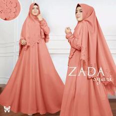 Gamis pesta - Baju gamis - Gamis wanita - Baju muslim wanita terbaru - Maxi Baloteli Uk L - Peach