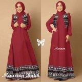 Jual Trend Baju Maxi Batik Pashmina Uk L Maroon Baru
