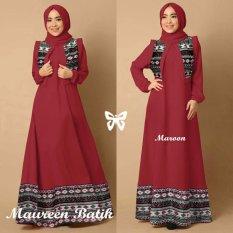 Trend Baju - Maxi Batik Pashmina Uk L - Maroon
