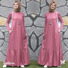 Gamis pesta - Baju gamis - Gamis wanita - Baju muslim wanita terbaru - Maxi Jersey Pashmina Uk L - Dusty
