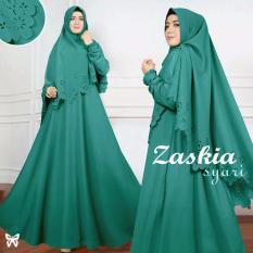 Gamis pesta - Baju gamis - Gamis wanita - Baju muslim wanita terbaru - Maxi Syari Laser Uk L - Green