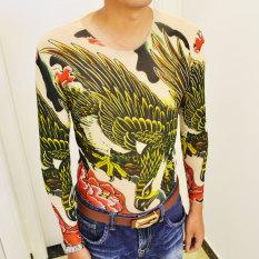 Jual Trendi 3D Karakter Cetak Tato Atasan 2 Baju Atasan Kaos Pria Kemeja Pria Online Tiongkok