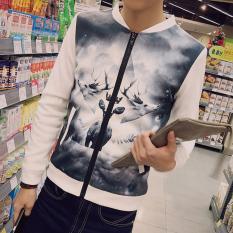 Gaya Jepang Membentuk Tubuh Pria Kerah Berdiri Jaket Ukuran Besar Jaket Kasual Pria Katun Ruang Bersablon