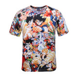 Iklan Trendi Pria 3D Karakter Musim Panas Lengan Pendek T Shirt Sun Wukong Baju Atasan Kaos Pria Kemeja Pria