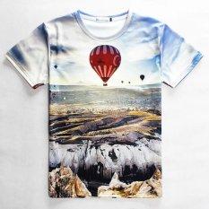 Harga Trendi Pria 3D Korea Fashion Style Musim Panas Produk Baru Lahir T Shirt Balon Udara Panas Asli Oem