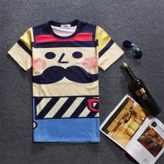 Jual Beli Trendi Pria 3D Korea Fashion Style Musim Panas Produk Baru Lahir T Shirt Kuning Di Tiongkok