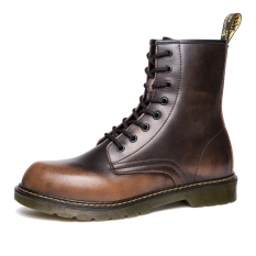 Trendi Pria Ala Inggris Produk Baru Sol Tebal Lokomotif Boots Kuning Coklat Promo Beli 1 Gratis 1